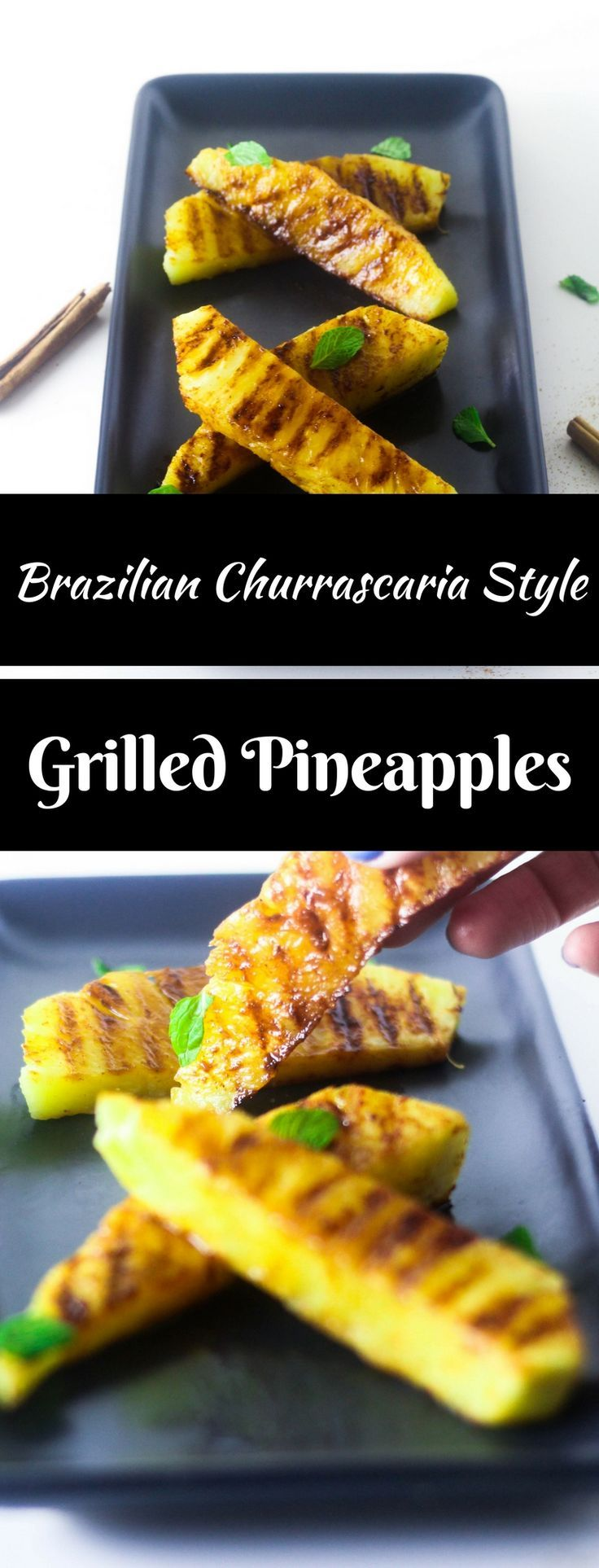 An easy grilled summer dessert that is popular in Brazilian churrascaria. All you need are pineapple slices, cinnamon and sugar to grill the best summer dessert. Grill or BBQ these pineapples today for juicy and sweet pineapple slices to please everyone.