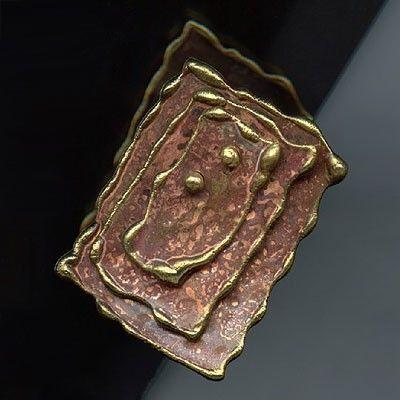 www.gallerysanivia.com  Pierścionek mosiężny pierścionki z mosiądzu biżuteria artystyczna
