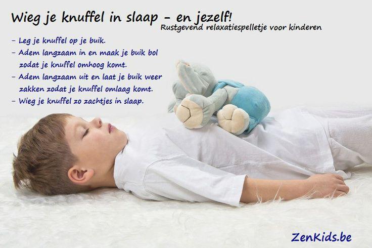 Relaxatieoefening voor kinderen. Tot rust komen met je eigen adem op een speelse manier. Mindfulness op kindermaat.
