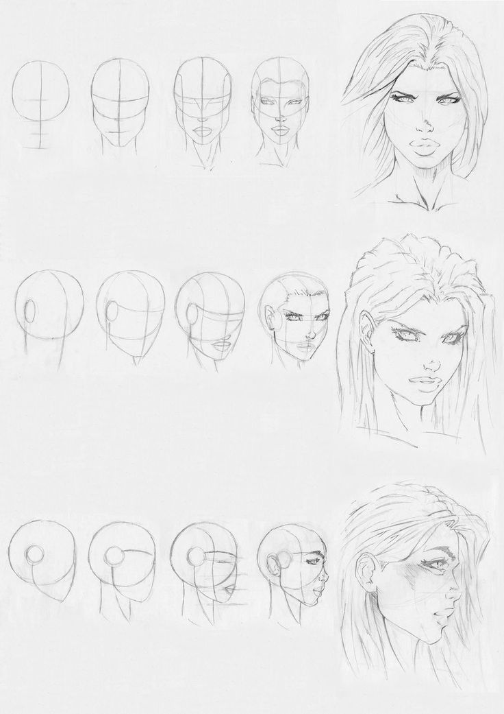 marvel style head drawing by Rofelrolf on deviantART
