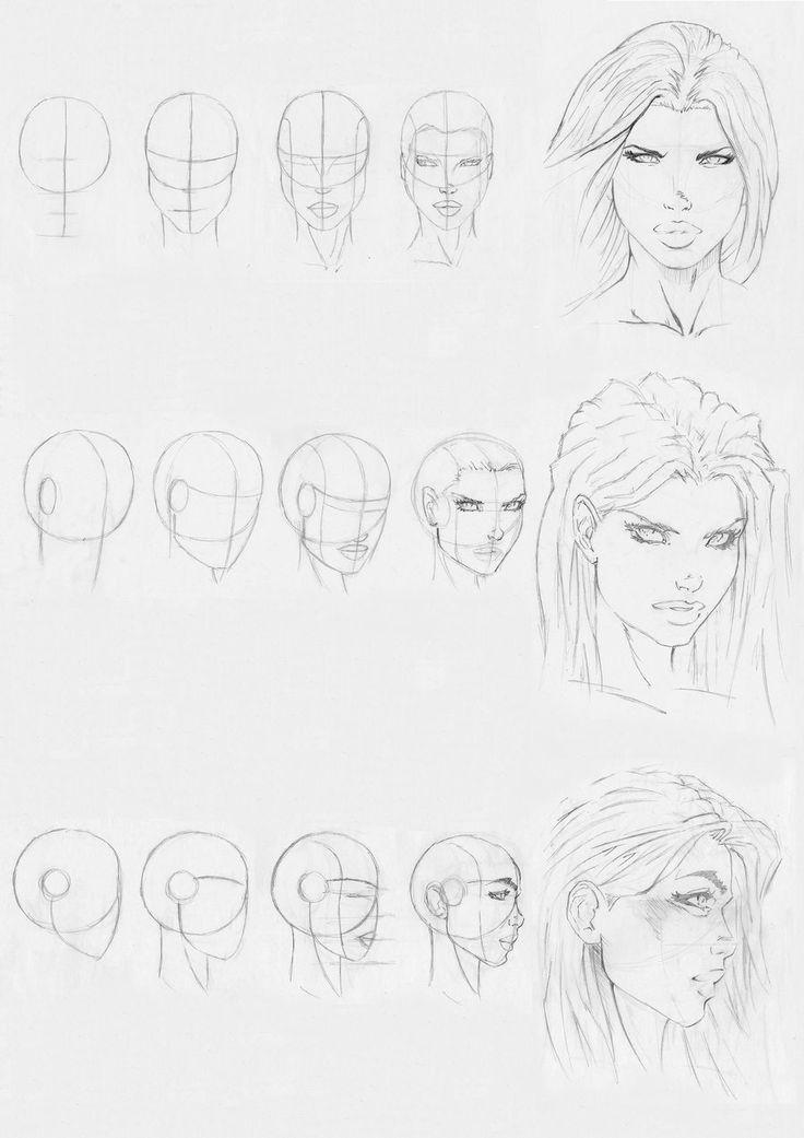 marvel style head drawing by Rofelrolf on deviantART