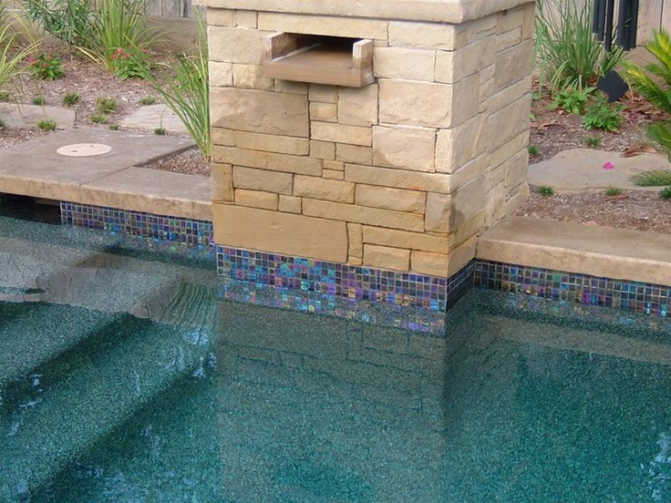 Pools using glass tiles glass tile gallery 9 for Pool design tiles