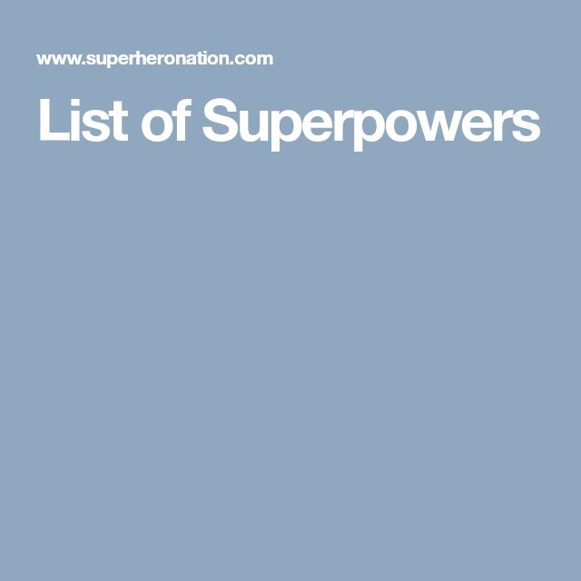 List of Superpowers