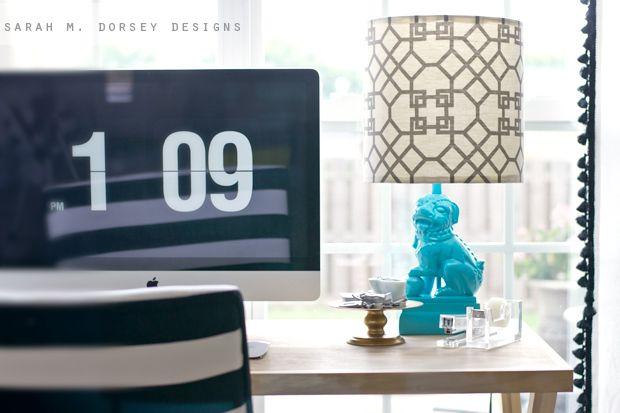 sarah m. dorsey designs: Foo Dog Lamp + DIY Lampshade Kit