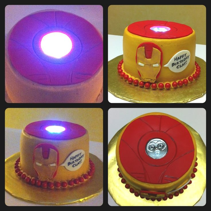 "Iron Man Cake With ""working"" Arc Reactor"