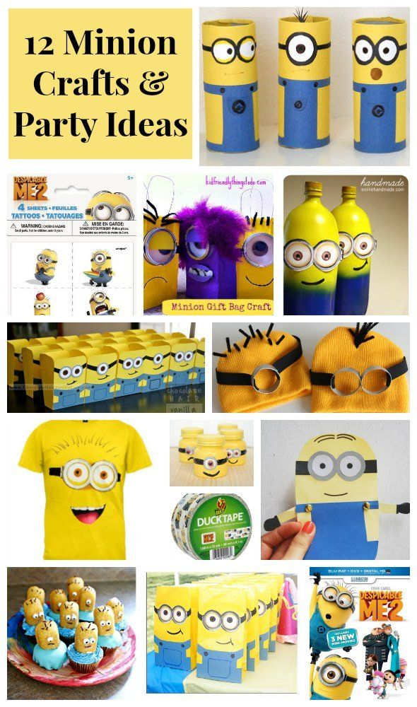 12 Despicable Me Minion Crafts & Party Ideas