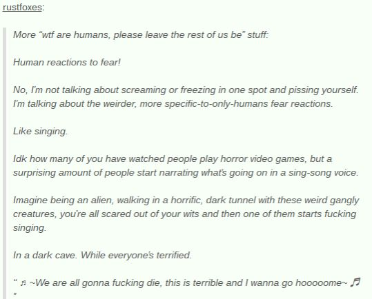Humans Are Weird/Space Australia Fear Responses