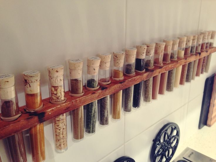 DIY: Test tube spice rack