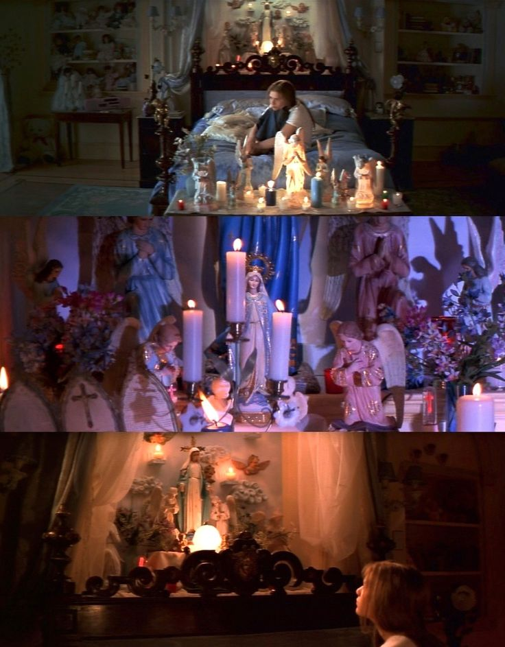 Religion iconographic screenshots from Romeo and Juliet. #icon #shrine #candles