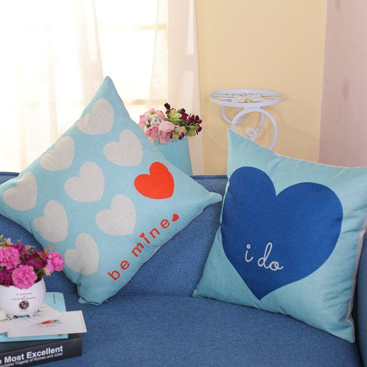 Find More Cushion Cover Information about 18*18'' Cushion Cover Heart Printing Linen Cotton Sofa Throw Pillowcase Home Decor Chair Couch Pillow Cover Merry New Year Gifts,High Quality cushion cover,China cushion cover heart Suppliers, Cheap couch pillow cover from WK HomeTextiles Store on Aliexpress.com