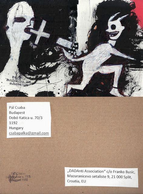 Mail art from Pál Csaba: Csaba Pal, Mail art, Croatia