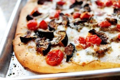 The Pioneer Woman's Favorite Pizza - roasted eggplant, tomato, garlic