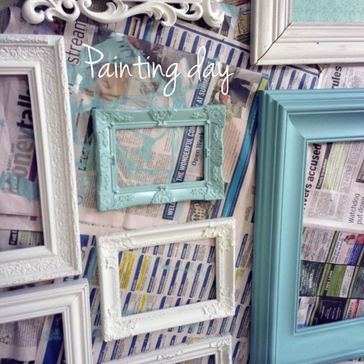 DIY Painting Frames For My Feature Wall Decor. Duck Egg