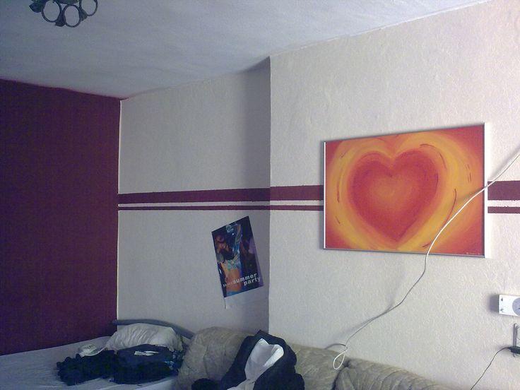 Mit Farbe Wandmuster streichen kreative Wandgestaltung ...