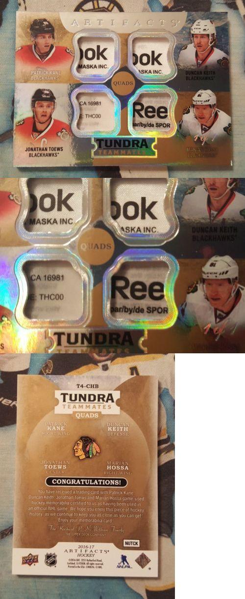 Ice Hockey Cards 216: 2016-17 Artifacts Chicago Blackhawks Quad Tag 1 1 Jonathan Toews Patrick Kane -> BUY IT NOW ONLY: $799.99 on eBay!