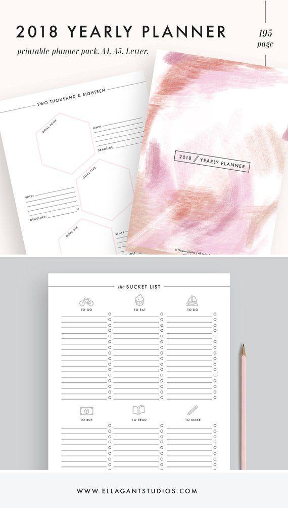 2019 planner, printable planner 2019 planner, academic planner