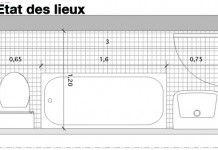 Présentée dans le catalogue 2013 de Leroy Merlin, cette salle de bains sous les toits offre un maximum de confort dans un minimum d'espace.