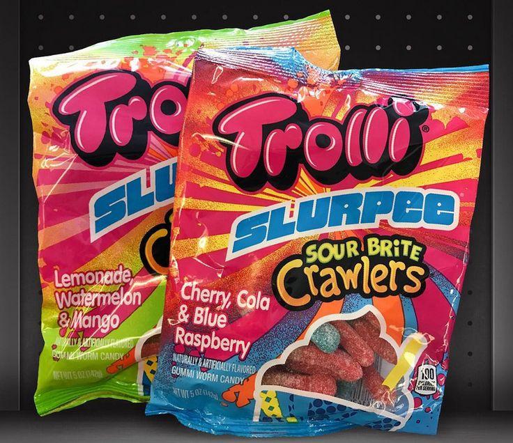 Trolli Slurpee Sour Brite Crawlers Cherry, Cola & Blue Raspberry