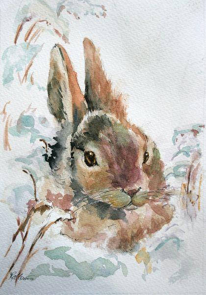 winter foraging ron bowman art watercolor creatures. Black Bedroom Furniture Sets. Home Design Ideas