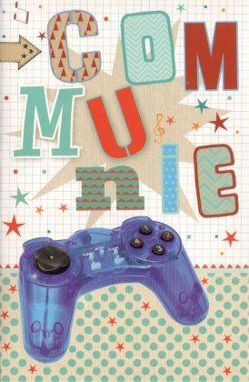 Communiekaart voor jongens en meisjes  Speciaal voor gamers