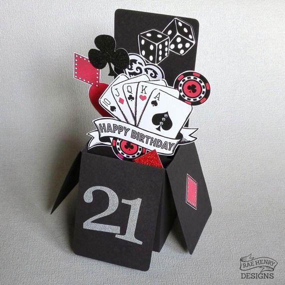 Casino Poker Vegas Birthday Card 3 D Pop Up Rockabilly Tattoo Etsy Birthday Cards Vegas Birthday Handmade Birthday Cards