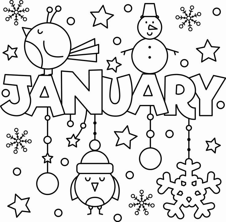 winter coloring activities preschool fresh happy new year
