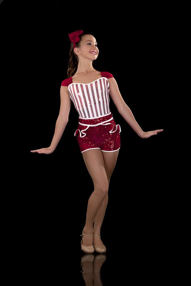 938cd7379633 Red & White Candy Stripe Dance Costume - Candy - Jazz Tap | Clothing,  Shoes, Accessories, Costumes, Girl's Costumes | eBay!