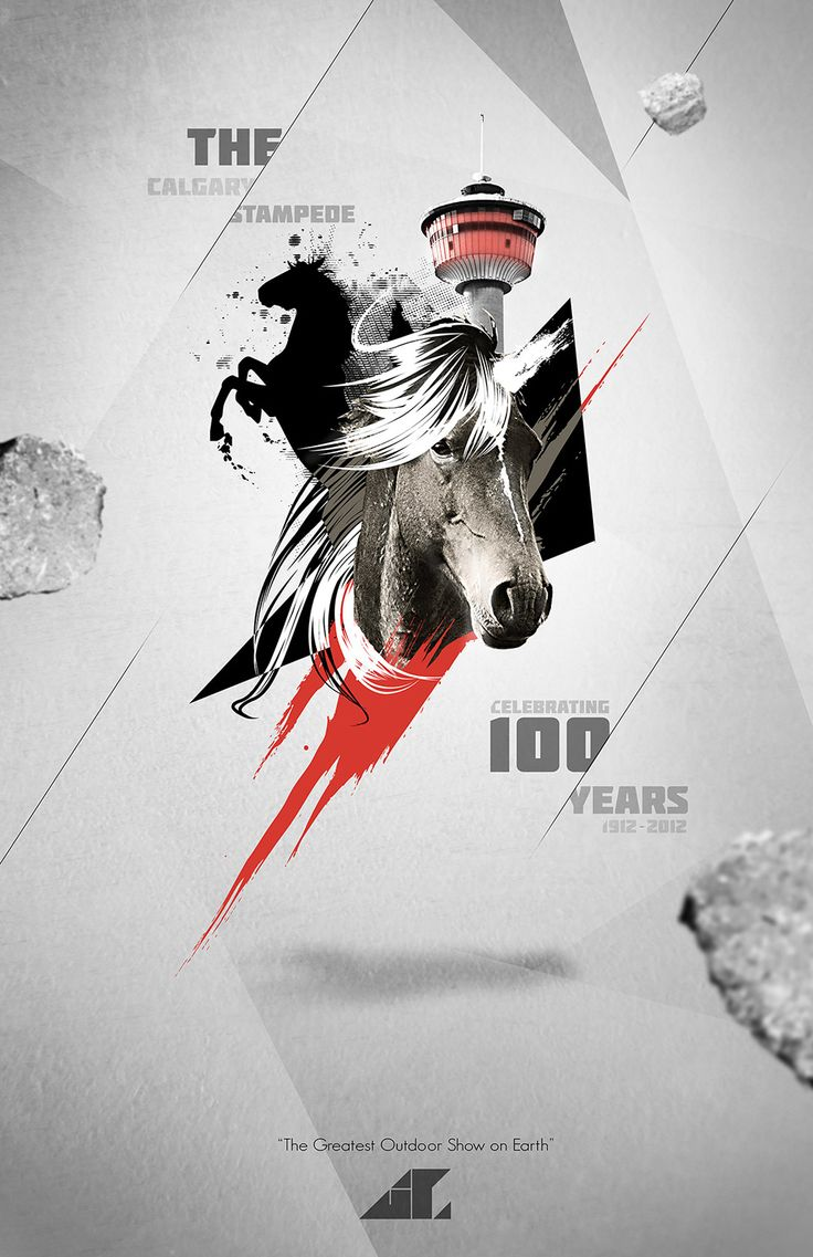 Cool style.     Calgary Stampede 100th Anniversary Poster | Client: Personal