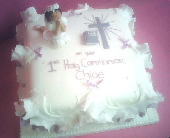 Great idea for for a holy communion cake first holy for 1st holy communion cake decoration ideas