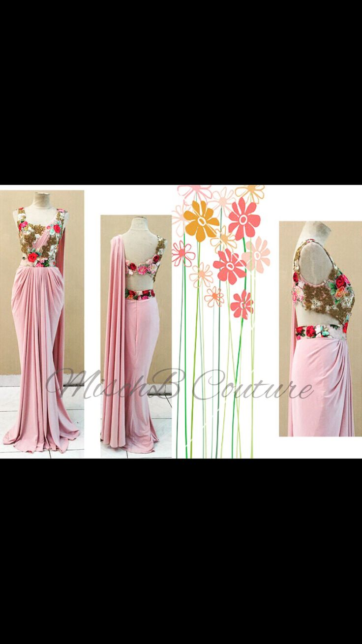 Floral Burst, saree gown by MischB Couture