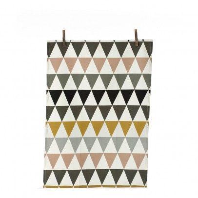 Triangle Tea Towel Multicoloured  Ferm Living
