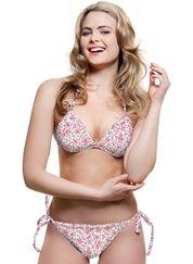 Blossom Tie-side Gel Bikini - Pink Floral