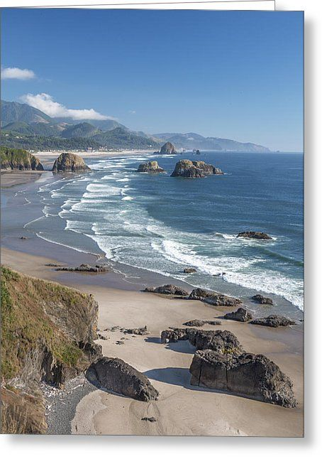 Past Canon Beach Greeting Card by Jon Glaser