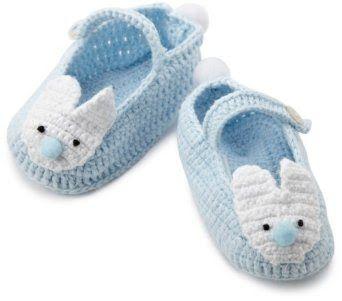 Sepatu Prewalker Bayi - Mud Pie Bayi-anak laki-laki baru lahir Biru Crochet Booties Kelinci   Pusat Sepatu Bayi Terbesar dan Terlengkap Se indonesia