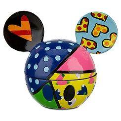Romero Britto Sweetheart Mickey Mouse Ears Keepsake Box