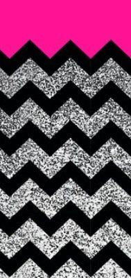 Blue And Gold Glitter Chevron Wallpaper