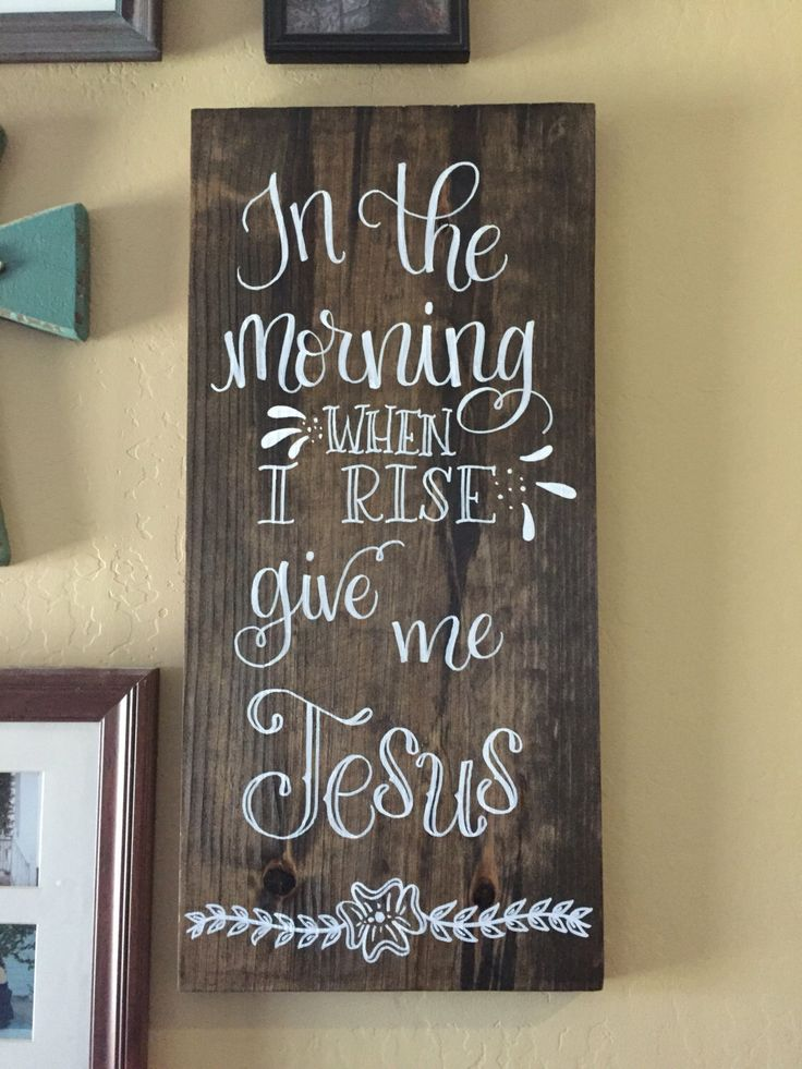 A personal favorite from my Etsy shop https://www.etsy.com/listing/466155213/in-the-morning-when-i-rise-give-me-jesus