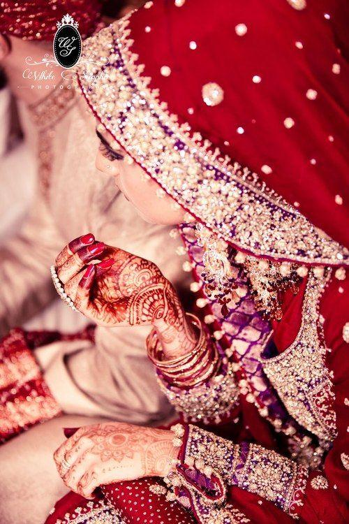 Beautiful Indian Bride #indianwedding #red