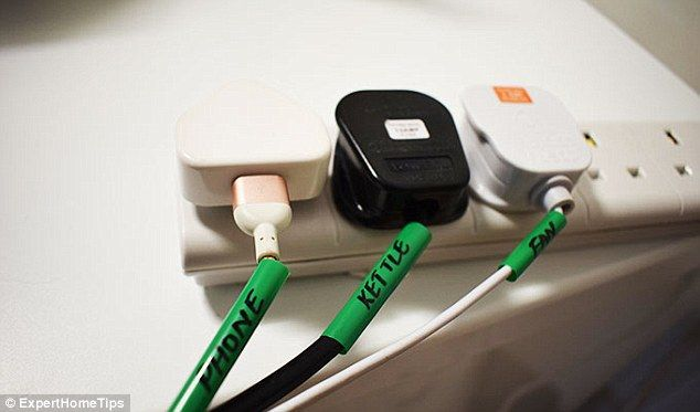 Wire organisers made from straws, as pictured above, are a nifty little way to make sure y...