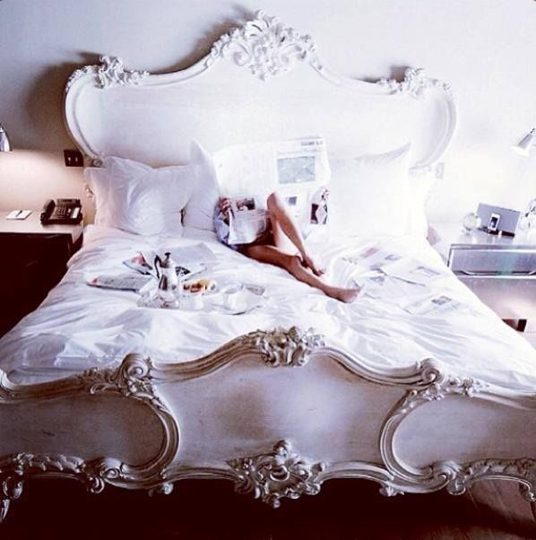 This bed draped in a handira and a fabulous chandelier? I will not be held responsible for the results.  Shabby Beds - lookslikewhite Blog - lookslikewhite