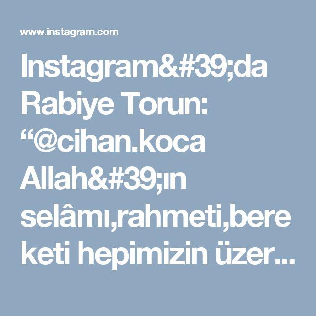 """Instagram'da Rabiye Torun: """"@cihan.koca  Allah'ın selâmı,rahmeti,bereketi hepimizin üzerine olsun Bayramda farklı tatlılarla misafirlerini ağırlayanlara,bu tarifi…"""""""