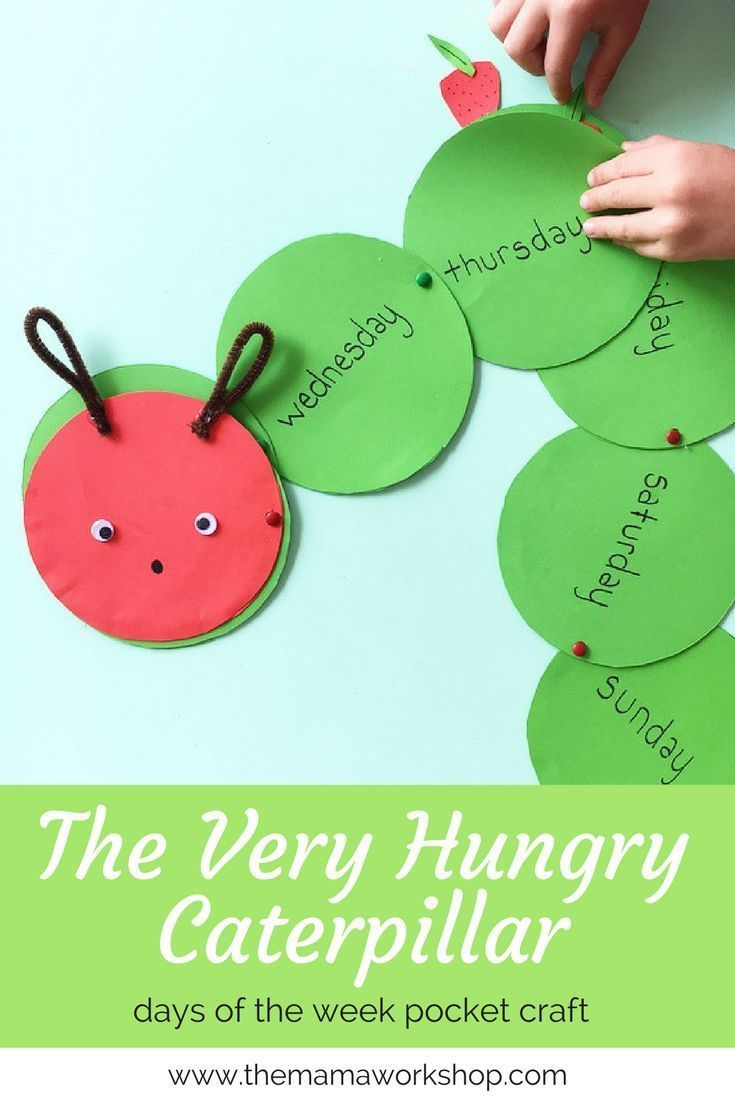 The Very Hungry Caterpillar Craft. Learn the days of the week, foods and how to retell the story.