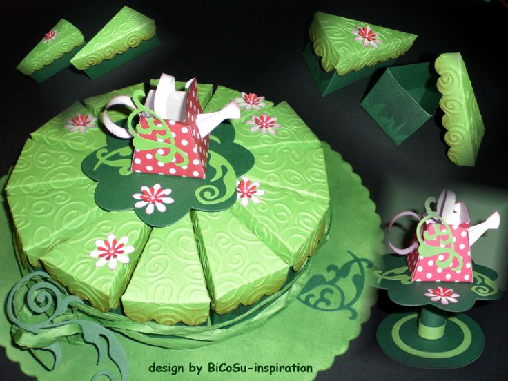 Garten - Papiertorte / Geburtstag oder Gartenparty / Birthday Paper Cake or Garden party - Papercake