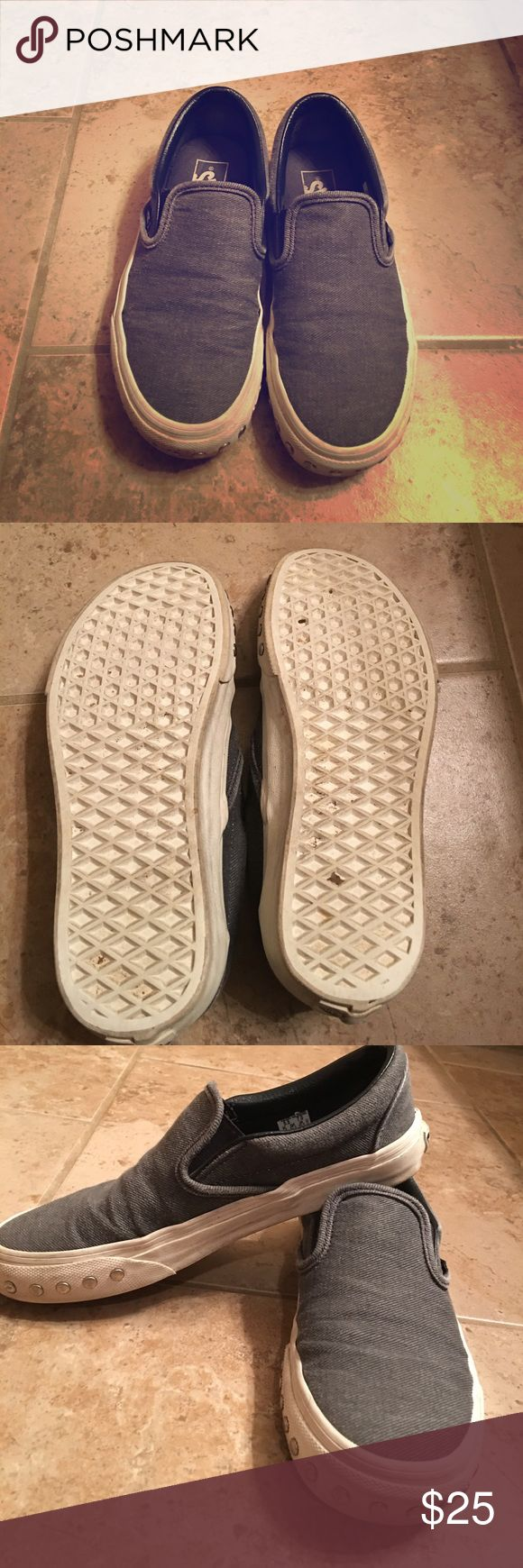 Studded Slip On Vans -Distressed studded Vans                                                 Slightly used but still in great condition                        These shoes are really comfortable, I just don't wear them very often Vans Shoes Sneakers