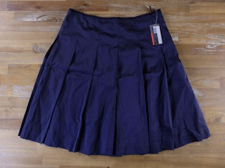 auth PRADA Milano blue silk pleat skirt - Size 42 IT / 6 US - NWT   Clothing, Shoes & Accessories, Women's Clothing, Skirts   eBay!