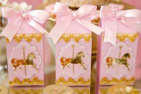 Carousel pony favor boxes from an Enchanted Carousel Birthday Party on Kara's Party Ideas   KarasPartyIdeas.com (16)