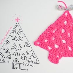 Quick, quick - get the hook - these crochet trees are so fun to make. Taped to a wall, as a gift tag, an ornament, for your window ...