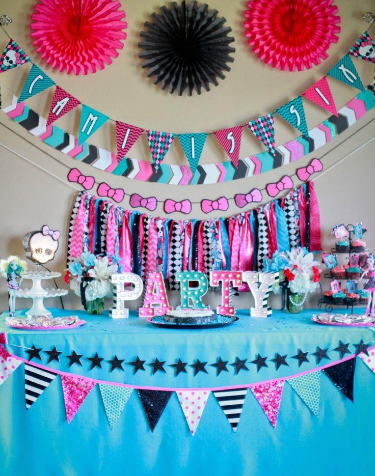 Monster High Birthday Party Dessert Table