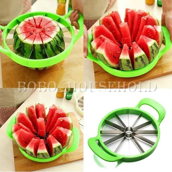 Watermelon Slicer Fruit Melon Cantaloupe Divider Stainless Cutter Kitchen Tools