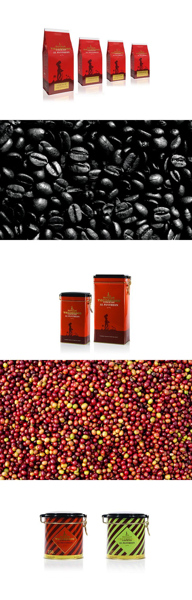 Ideazione e progettazione delle confezioni per il caffè per la torrefazione Antigua Tazza D'oro. #coffee #packaging #design